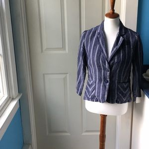 Cabi linen pinstriped jacket size 4